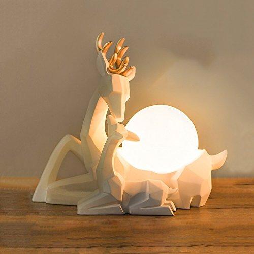 Stile europeo creativo casa bianca ornamenti elk soggiorno lampada da tavolo camera da letto lightsbed decorazioni interne lampada da scrivania