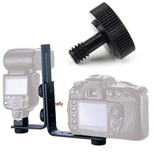 Jacobssen Kurz 1/4 Schraube für Kamera/Stativ/Blitzschiene Mann zum weiblichen Adapter (Silber)