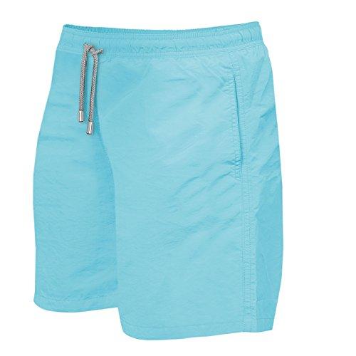 Herren Jungen Slim Fit Badeshorts | Badehose | verschiedenen Farben | Slimline | Männer Bademode Opal Blue