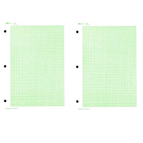 National Brand Engineer 12188 Füllpapier, 10 Quadrat/cm, liniert, 11 x 8,5 Zoll, 20 Blatt 11 X 11-quadrat