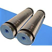 New Set of 2 x 180cm Camping Yoga Roll Eva Foil Foam backed Sleeping Mat Mattress Tent Festival Exercise 5mm