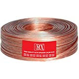 MX HIGH Performance Speaker Cable Transparent 21 Wire OD 2.5 X 5.0 MM 50 MTR COIL-MX-3981
