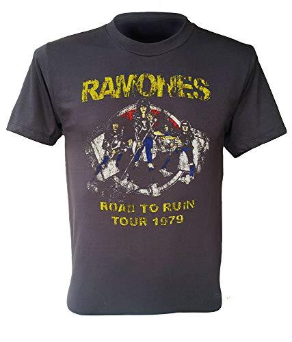 1979 Tour T-shirt (Ramones t-Shirt Road to Ruin Tour 1979 Punk Rock Band Retro Men Shirt S to 2XL)