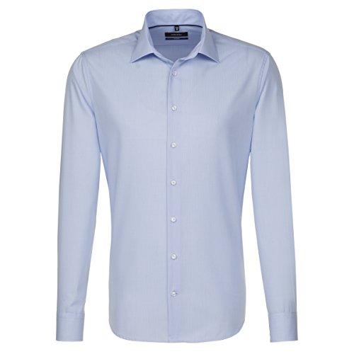 Seidensticker Herren Businesshemd Tailored Langarm mit Kent-Kregen Bügelfrei Hellblau