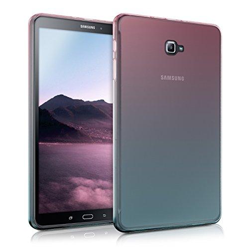 kwmobile Hülle für Samsung Galaxy Tab A 10.1 (2016) - Case Handy Schutzhülle TPU Silikon für Tablet - Backcover Cover klar Pink Blau...