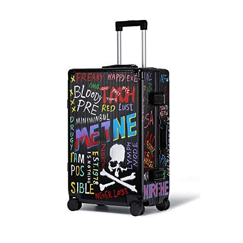 """TBLL Gepäckwagen Trolley Graffiti Custom Koffer Aluminium Rahmen Universal Wheel Password Trolley Koffer 20"""" Männer und Frauen Studenten"""