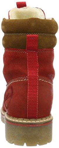 s.Oliver 26239, Bottes Rangers Femme Rouge (Dark Red 509)