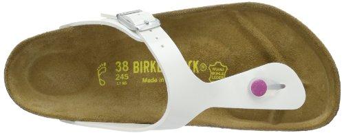 Birkenstock Classic GIZEH, Damen Zehentrenner Weiß (Weiß Lack)