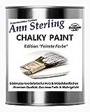 Ann Sterling Kreidefarbe Shabby Chic Farbe: Chalky White/Weiß 1Kg. / 750ml. Lack Chalky Paint