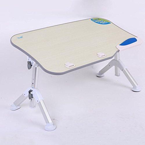 Klapptisch KKY-Enter Einfache Home Bett Laptop Tisch Ultra-stabile Stativ Klapp Lift Tilt Student Schlafsaal Study Desk (Farbe : Grau) - Bett-tisch Tilt