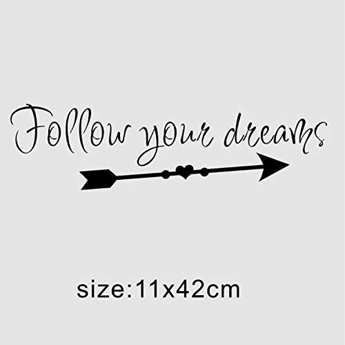 XQWZM Wall Decals Follow Your Dreams Inspirational Quote Wall Sticker Vinyl Lettering Kids Room Wall Decor Decals