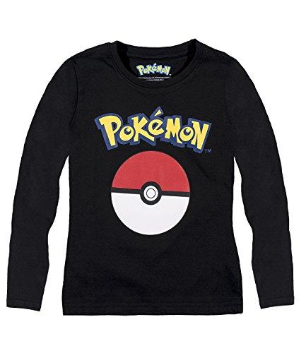 pokemon-langarmshirt-jungen-152-schwarz