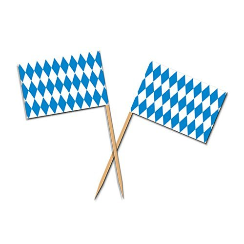 Club Blue and White Oktoberfest Food, Drink or Decoration Party Picks 2.5 by Party Central
