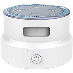 Smatree SmaCup Station de charge portable pour Echo Dot 2egénération (blanc)