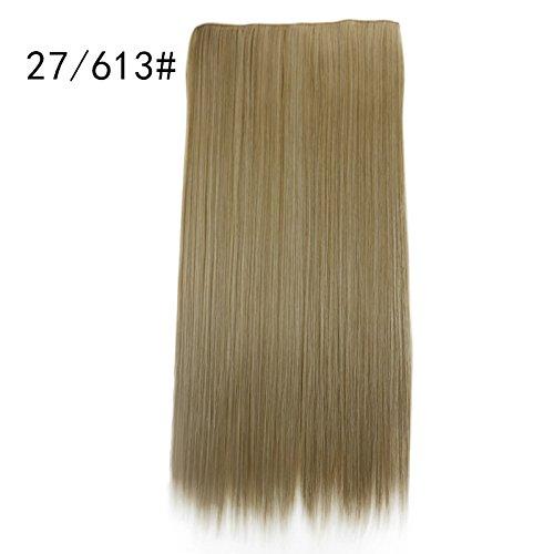 Majome Haarteil Frauen Perücke Lady Girl Haarverlängerung Fünf Clip Chemische Faser Haarvorhang Party Cosplay Perücke Wig