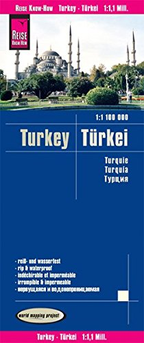 Reise Know-How Landkarte Türkei (1:1.100.000): world mapping project