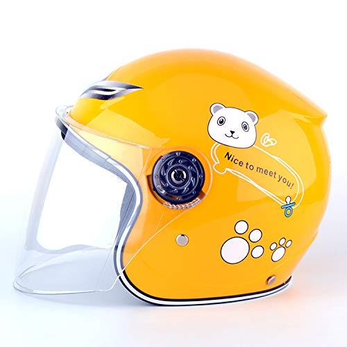 XuBa - Casco da moto antivento per bambini e bambine, ad alto calore, per l'inverno