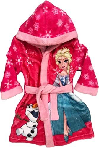 Frozen - Albornoz con Capucha para niña, Color Rosa Rosa/Pink 122 cm
