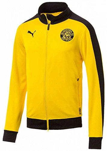 Puma BVB T7 Track Jacket Chaqueta, Hombre, Cyber Yellow, Medium