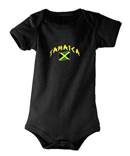 Supportershop Jamaica Body bébé Mixte Enfant, Noir, FR : M (Taille Fabricant : 6-12 Mois)