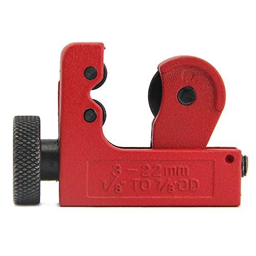 Mini Tube Cutter/zilong Essential Werkzeug für Home Handy Man, Klempner, Elektriker, Fahrzeug-Mechanik Slice 3mm-22mm 1/8inch-7/20,3cm OD Kupfer Messing Aluminium Kunststoff Tubing Rohr, Rot