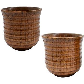 Fait /à la main Tasses /à th/é en bois jus de fruits Tasse /à vin la cuisine ou leau Primitive Pour la maison Pour bi/ère Tasse /à caf/é en bois lait En bois naturel