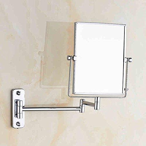 Schönheit Spiegel Badezimmer Doppelzimmer Vergrößern Drehende Teleskop Spiegel, Make-up Spiegel Badezimmer Klappspiegel, (Farbe : Drilling)
