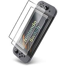 UTECTION 2X Cristal Templado para Nintendo Switch 2017 - Protector de Pantalla 9H Crystal Clear - Máxima protección Anti-Golpes - Sin burbujas - Vidro Templado Cristal Blindado Transparente