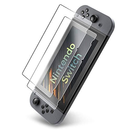 UTECTION 2x Panzerglas Folie für Nintendo Switch 2017 - Schutzfolie aus Glas gegen Displayschäden - Passgenaue Panzerglasfolie Anti Kratzer - Displayschutzfolie Schutzglas Clear Durchsichtig