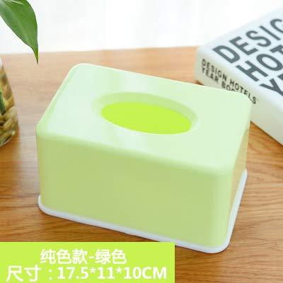 immer einfache Kunststoffe Papier Storage Tissue Box Desktop Couchtisch Auto Home kreative Cute Papier Pumpe, grün ()