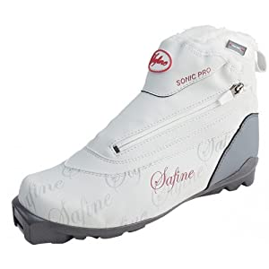 TecnoPro Damen-Langlaufschuh Safine Sonic Pro (Schuhgröße: 40.0 (UK=6.5), Farbe: 901 weiß/anthrazit/rot)