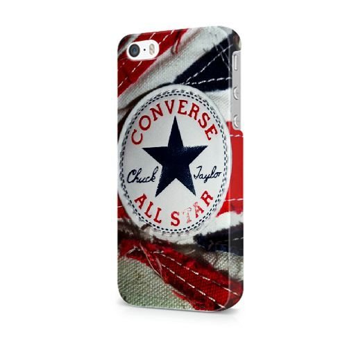 iPhone 5/5S/SE coque, Bretfly Nelson® COLDPLAY Série Plastique Snap-On coque Peau Cover pour iPhone 5/5S/SE KOOHOFD918847 CONVERSE ALL STAR - 017