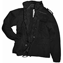 Chaqueta de camuflaje M65 Field Jacket Vintage Style Army chaqueta BW negro-piel talla M