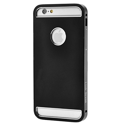 Phone case & Hülle Für iPhone 6 Plus & 6s Plus Link Traum Mode Metall Schutzhülle ( Color : Gold ) Black
