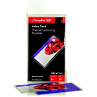 HeatSeal Laminating Pouches, 5 mil, 5 1/2 x 3 1/2, Index Card Size, 25/Pack