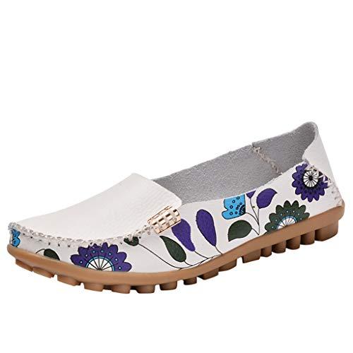 VECDY Damen Sandalen Frauen Frühling und Herbst Geprägte Damenschuhe Mutterschuhe mit flachem Boden Hausschuhe Flache Schuhe
