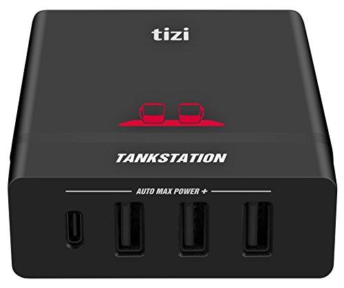 NEU equinux tizi Tankstation USB-C + 3 USB-A (75W) mit bis zu 60W USB-C PD Leistung - Apple-kompatibles USB-C 4 Port Ladegerät mit Power Delivery USB-C PD zum schnellen Laden von MacBook Pro 15