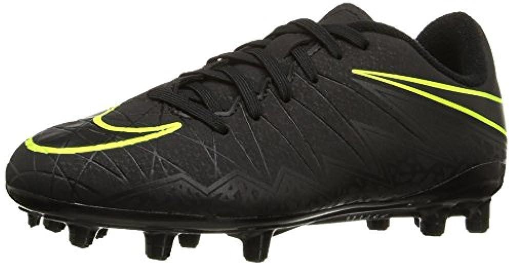 Nike Unisex-Kinder Hypervenom Phelon II FG Fußballschuhe, Schwarz (Black/Black), 36 EU