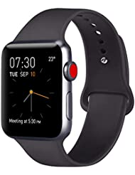 ATUP Strap Compatible with for Apple Watch Strap 38mm 42mm 40mm 44mm, Soft Silicone Replacement Straps Compatible with for iWatch Series 4, 3, 2, 1