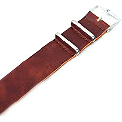 OUMOSI Genuine Leather Watchband Replacement Watch Strap For Men Women 18 20 22mm
