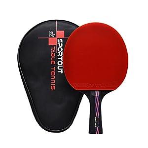Easy-Room ITTF genehmigter Tischtennisschläger, professioneller Pingpong-Schläger, Schläger mit Tasche, 9 Lagen Sperrholz und 8-lagiger Kohlenstoff Verstärkung