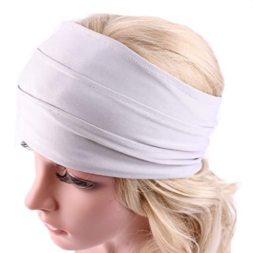 Sasstaids Haarschmucks Breites Stirnband Yoga Stirnband Boho Stirnband Laufendes Stirnband Weiß