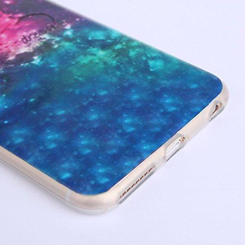 Voguecase® Pour Apple iPhone 6/6S 4.7, TPU Silicone Shell Housse Coque Étui Case Cover (Cœurs/éléphant)+ Gratuit stylet l'écran aléatoire universelle étoiles 06