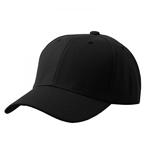Tuopuda® Baseball Cap Unisex Damen Herren 6 Panel Snapback Kappe Hip Pop Sport Golfschläger Kappen (schwarz)