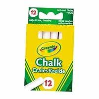 Dynamic Crayola Anti-Dust White Chalk 12 Pack - Cleva Edition H8