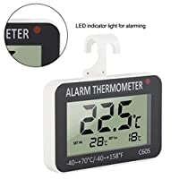 TAOtTAO Digital Refrigerator Freezer Room Thermometer Freezer LCD Alarm Simple Operation