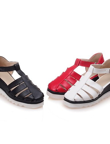 UWSZZ IL Sandali eleganti comfort Scarpe Donna-Sandali-Casual-Zeppe-Zeppa-Finta pelle-Nero / Rosso / Bianco Red