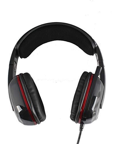 Somic G909 Gaming-Headset mit 7.1-Surround-Sound-Effekt und Geräuschunterdrückung, über Kabel, kompatibel mit Mac, PC, Xbox, Computer, Heimkino schwarz
