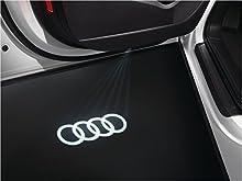 Entrée LED origine Audi Audi Anneaux Inscription Logo Porte Éclairage 4 g0052133g