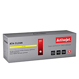 Activejet ATH-312AN remanufactured toner 126A (CE312A) for HP Color LaserJet Pro CP1025 CP1025nw 100 M175a 100 M175nw M275 Canon i-SENSYS LBP7010C LBP7018C 1000 pages